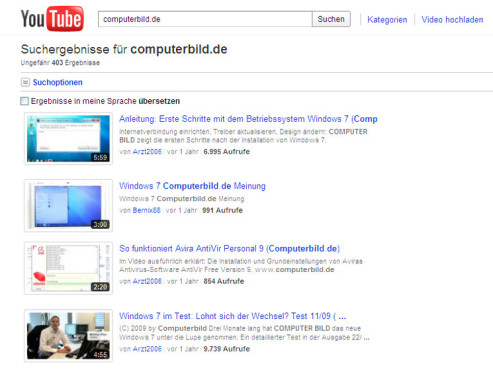 Google Zeitgeist 2010: YouTube © YouTube