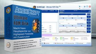 Den PC schneller machen – per PC-Putz! Schneller als jede SSD – und schon vorhanden: Arbeitsspeicher. Den spannt diese Vollversion gekonnt in den Explorer ein. ©ArchiCrypt