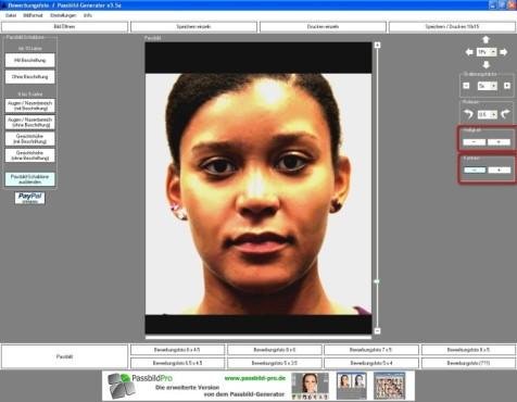 Passbild-Generator: Bild optimieren