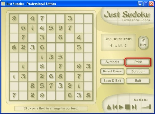 Just Sudoku: R�tsel drucken