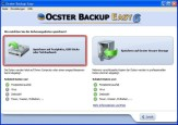 Ocster Backup Easy: Speichermedium bestimmen