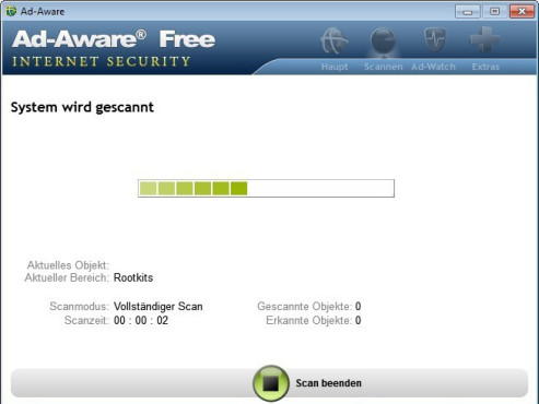 Ad-Aware Free Internet Security © Screenshot