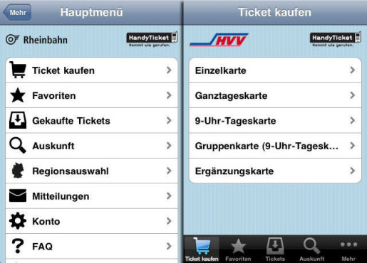 Handyticket © Apple