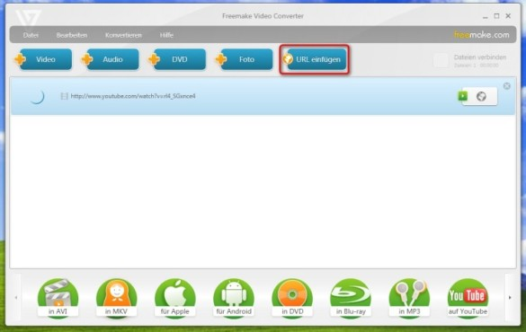 Freemake Video Converter: Online-Videos herunterladen