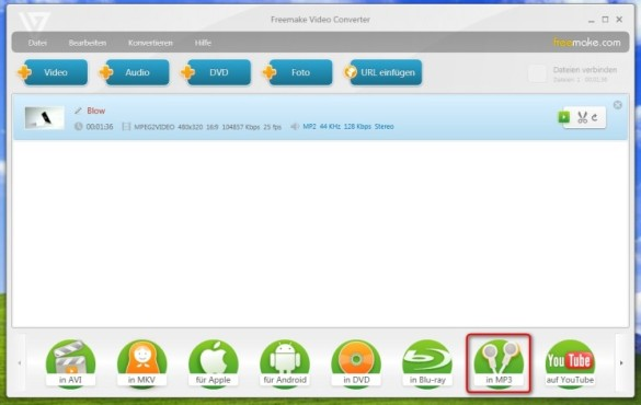 Freemake Video Converter: Tonspur aus Video extrahieren