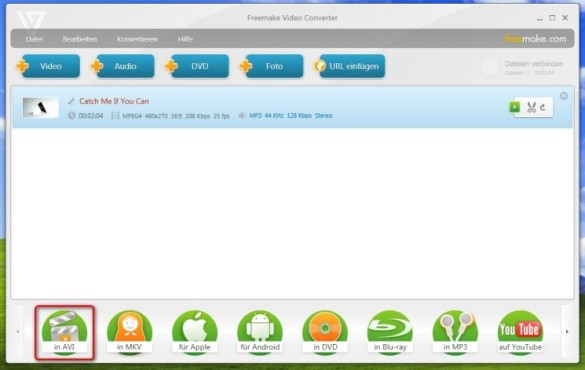 Freemake Video Converter: Video umwandeln