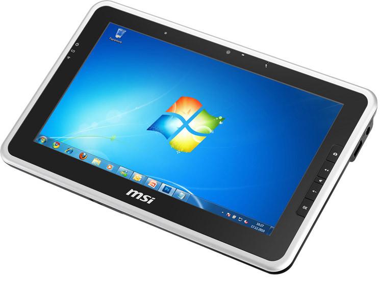 msi windpad 100w 232 tablet pc mit windows 7 computer bild. Black Bedroom Furniture Sets. Home Design Ideas