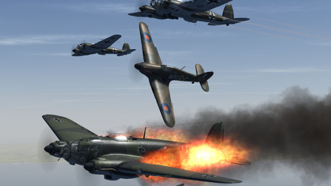 Simulation IL-2 Sturmovik � Cliffs of Dover: Feuer © Ubisoft