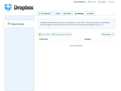 Dropbox – Ordner für Kollegen freigeben