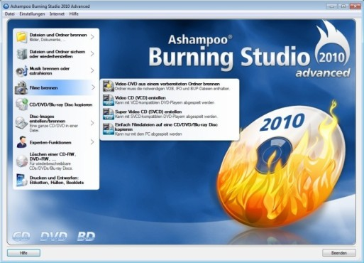 Ashampoo Burning Studio 2010 © Screenshot