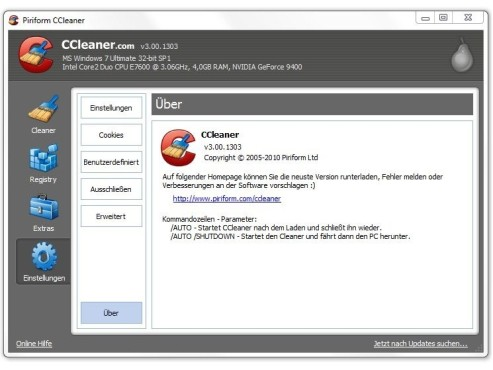 CCleaner © Screenshot