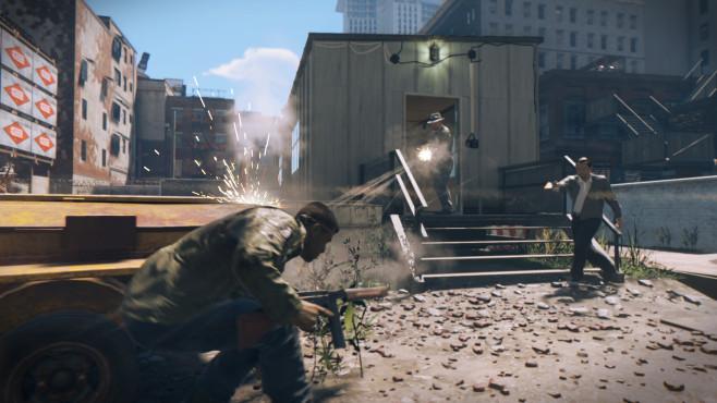Mafia 3 angeschaut: Kampfansage an GTA 5  �Mafia 3� kann auch als Deckungs-Shooter gespielt werden. Es macht aber mehr Spa�, wenn Sie den direkten Angriff wagen und nicht immer nur Schutz suchen. ©Take-Two