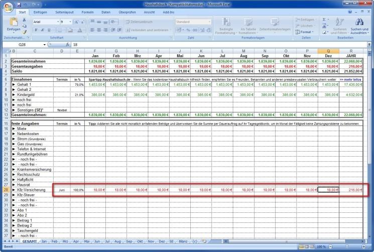 Taupunkt Berechnen Excel : haushaltskosten rechner b rozubeh r ~ Themetempest.com Abrechnung