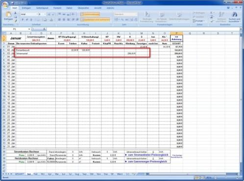 Spartipp-Haushaltsbuch: Kosten täglich erfassen