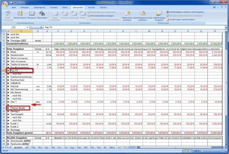 Beste Tabellenvorlage Für Monatliche Ausgaben Zeitgenössisch ...