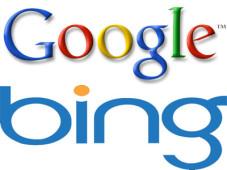Logos der Suchmaschinen Google und Bing ©Montage: COMPUTER BILD