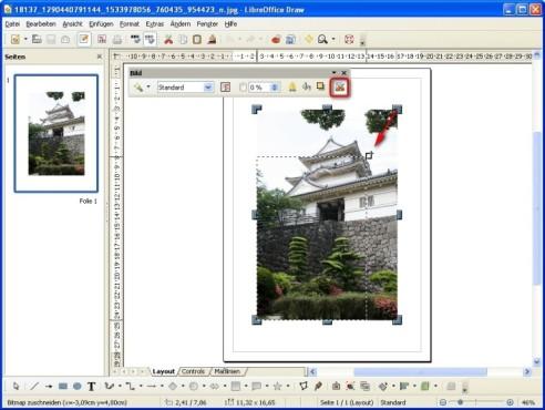 LibreOffice: Bilder mit wenigen Klicks zuschneiden