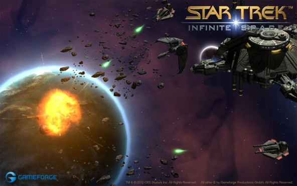 Browserspiel Star Trek – Infinite Space: Asteroiden © Gameforge