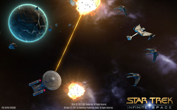 Browserspiel Star Trek – Infinite Space: Beschuss © Gameforge