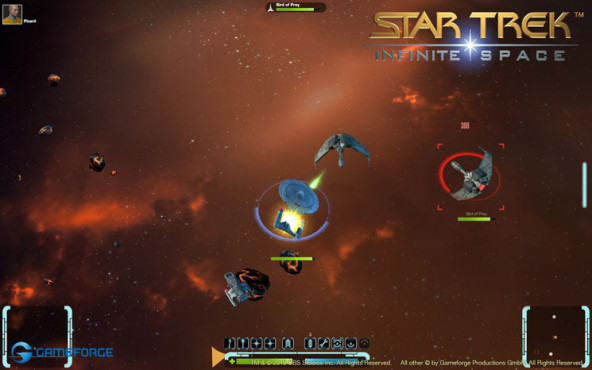Browserspiel Star Trek � Infinite Space: Bird of Prey © Gameforge