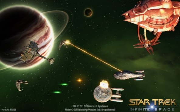 Browserspiel Star Trek – Infinite Space: Gefecht © Gameforge