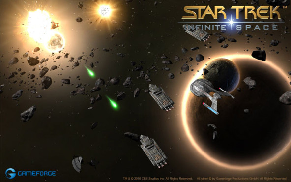 Browserspiel Star Trek – Infinite Space: Schüsse © Gameforge