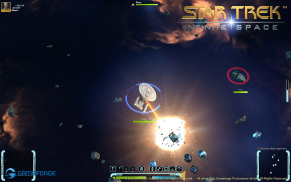 Browserspiel Star Trek � Infinite Space: Treffer © Gameforge