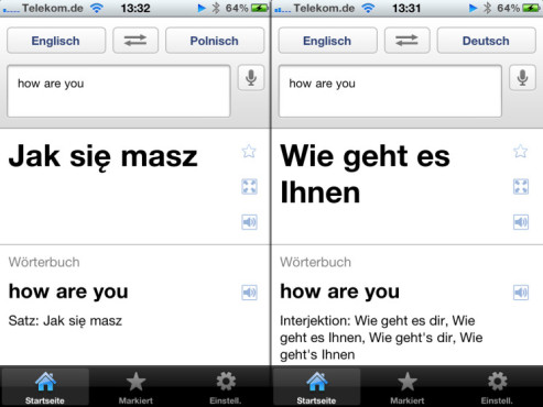 Google Translate © Google