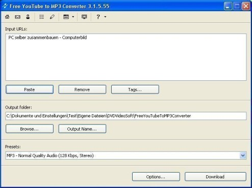 Free YouTube to MP3 Converter © COMPUTER BILD