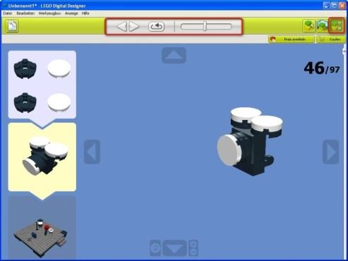 Lego Digital Designer: Bauanleitung anzeigen