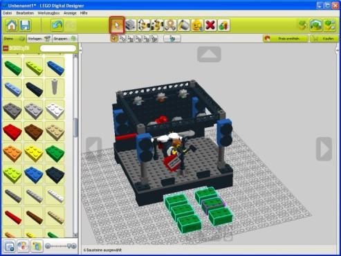 Lego Digital Designer: Mehrere Steine auswählen