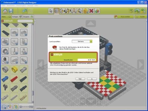 Lego Digital Designer: Modell hochladen und bestellen