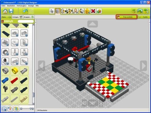 Lego Digital Designer: Preis für Bausatz errechnen