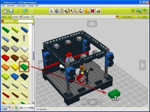 Lego Digital Designer: Steine setzen