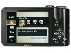 R�ckansicht Sony Cybershot DSC-H70 ©COMPUTER BILD