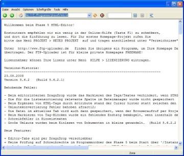 Screenshot 3 - HTML-Editor Phase 5