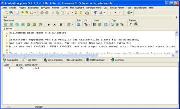 Screenshot 5 - HTML-Editor Phase 5