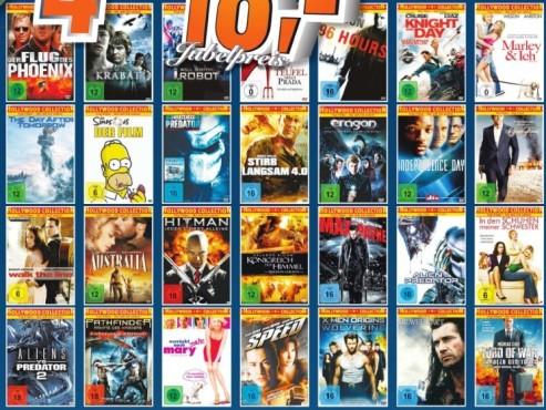 DVDs: 4 für 18 Euro ©Saturn