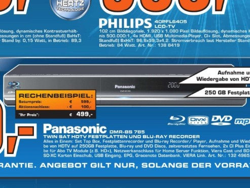 Panasonic DMR-BS785 © Saturn