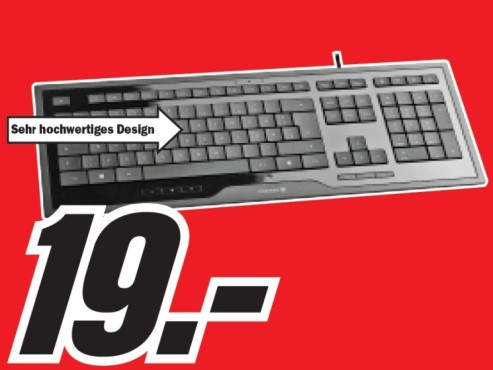 Cherry JK-0200 Corded Multimedia Keyboard © Media Markt