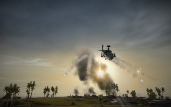 Browserspiel Battlefield Play4free: Helikopter © Electronic Arts