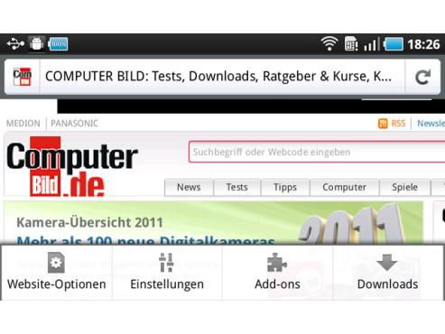 Firefox 4 mobile ©Mozilla