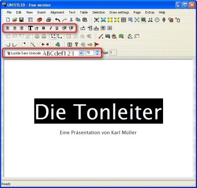 Powerbullet Presenter: Text formatieren