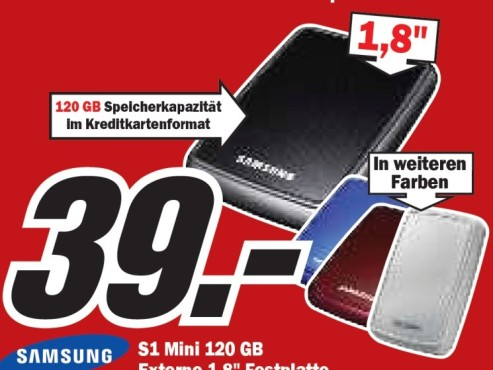 Samsung S1 Mini 120 GB © Media Markt