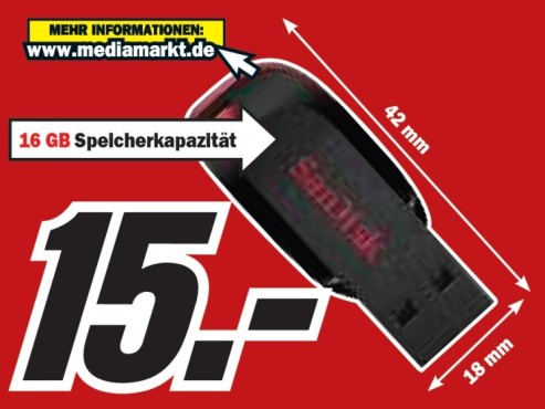 Sandisk 16 GB USB Blade © Media Markt