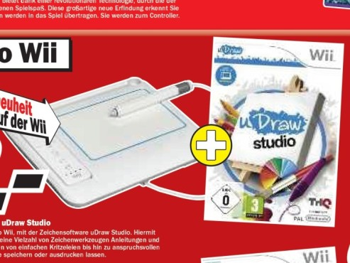 uDraw Studio + uDraw Gametablet © Media Markt