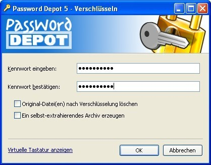 Password Depot: Kennwort festlegen