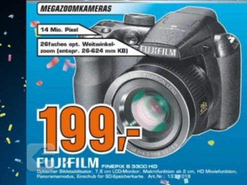 Fujifilm Finepix S3300 © Saturn