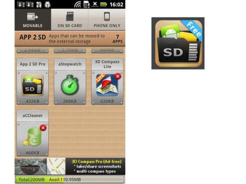 App 2 SD free ©Sam Lu