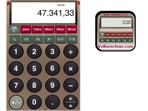 BWK minimax Volksrechner ©FAF-Verlag - Fachverlag f�r angewandte Finanzmathematik GmbH & Co. KG